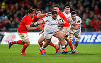 9th November 2019 | Munster vs Ulster<br /> <br /> Marty Moore on the charge during the Round 6 PRO14 League clash between Munster Rugby and Ulster Rugby at Thomond Park, Limerick, Ireland. Photo by John Dickson / DICKSONDIGITAL