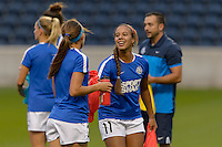 Chicago, IL - Wednesday Sept. 07, 2016: Frances Silva prior to a regular season National Women's Soccer League (NWSL) match between the Chicago Red Stars and FC Kansas City at Toyota Park.