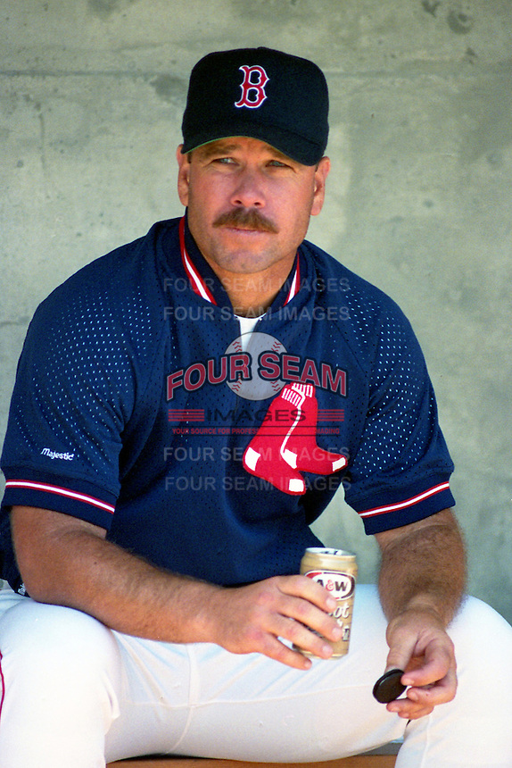 Boston Red Sox coach Gary Allenson during Spring Training 1993 at City of Palms Park in Fort Myers, Florida.  (MJA/Four Seam Images)