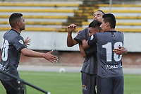NEIVA – COLOMBIA, 14-11-2020: Jugadores de Tigres celebran después de anotar un gol a Huila durante partido por la fecha 17 del Torneo BetPlay DIMAYOR 2020 jugado en el estadio Guillermo Plazas Alcid de Neiva. / Players of Tigres celebrate after scoring a goal to Huila during match for the date 17 as part of BetPlay DIMAYOR Tournament 2020 played at Guillermo Plazas Alcid stadium in Neiva city. Photos: VizzorImage / Sergio Reyes / Cont