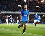 03.04.2019 Rangers v Hearts: Scott Arfield celebrates his goal