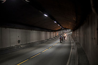 dropped group in the tunnel<br /> <br /> Men Elite Road Race<br /> <br /> UCI 2017 Road World Championships - Bergen/Norway