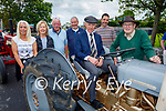 Michael Healy Rae TD attending the Ardfert Vintage Tractor run fundraiser for Kerry Cork Cancer Support Group in Ardfert on Sunday, l to r: Sheila Costello, Joan Griffin, Eddie Carmody, Larry Keane, Dan Harmon and Denis Hegarty
