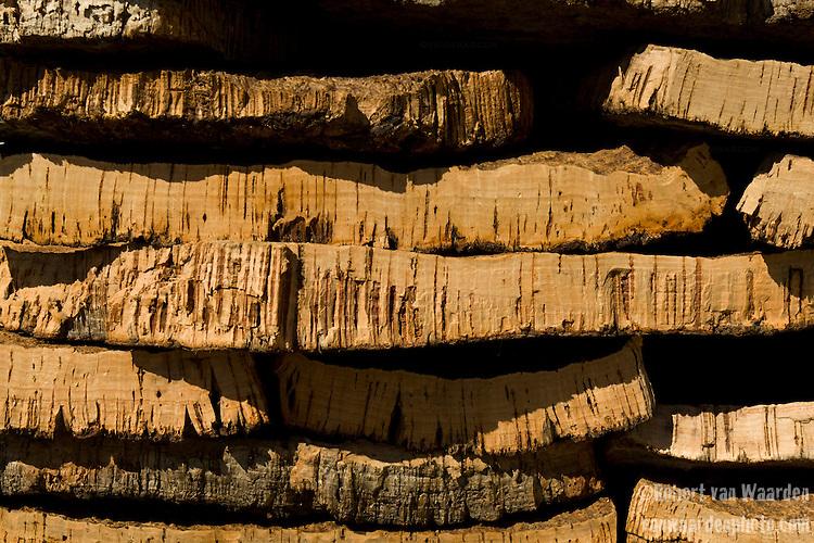 Cork lying outside the Cork factory in San Bras de Alportel