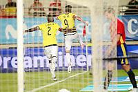 Colombia's Radamel Falcao (r) and Cristian Eduardo Zapata celebrate goal during international friendly match. June 7,2017.(ALTERPHOTOS/Acero) (NortePhoto.com) (NortePhoto.com)