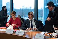 2. NSU-Untersuchungsausschuss dees Deutschen Bundestag.<br /> Aufgrund vieler Ungeklaertheiten und Fragen sowie vielen neuen Erkenntnissen ueber moegliche Verstrickungen verschiedener Geheimdienste in das Terror-Netzwerk Nationalsozialistischen Untergrund (NSU) wurde von den Abgeordneten des Bundestgas ein zweiter Untersuchungsausschuss eingesetzt.<br /> Am Donnerstag den 17. Dezember fand die 1. oeffentliche Sitzung des 2. NSU-Untersuchungsausschuss des Deutschen Bundestag statt.<br /> Im Bild vlnr.: Susann Ruethrich, SPD-Mitglied im Ausschuss; Uli Groetsch, Polizeibeamter und Obmann der SPD im Ausschuss und Frank Tempel, Mitglied der Linkspartei.<br /> 17.12.2015, Berlin<br /> Copyright: Christian-Ditsch.de<br /> [Inhaltsveraendernde Manipulation des Fotos nur nach ausdruecklicher Genehmigung des Fotografen. Vereinbarungen ueber Abtretung von Persoenlichkeitsrechten/Model Release der abgebildeten Person/Personen liegen nicht vor. NO MODEL RELEASE! Nur fuer Redaktionelle Zwecke. Don't publish without copyright Christian-Ditsch.de, Veroeffentlichung nur mit Fotografennennung, sowie gegen Honorar, MwSt. und Beleg. Konto: I N G - D i B a, IBAN DE58500105175400192269, BIC INGDDEFFXXX, Kontakt: post@christian-ditsch.de<br /> Bei der Bearbeitung der Dateiinformationen darf die Urheberkennzeichnung in den EXIF- und  IPTC-Daten nicht entfernt werden, diese sind in digitalen Medien nach §95c UrhG rechtlich geschuetzt. Der Urhebervermerk wird gemaess §13 UrhG verlangt.]