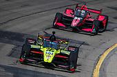 #18: Santino Ferrucci, Dale Coyne Racing with Vasser Sullivan Honda, #55: Alex Palou,  Dale Coyne Racing with Team Goh Honda