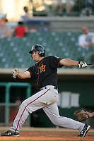 August 16 2009:  Jonathan Greene of the Bakersfield Blaze during game against the Lancaster JetHawks at Clear Channel Stadium in Lancaster,CA.  Photo by Larry Goren/Four Seam Images