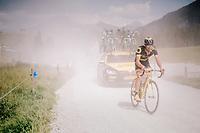 Fabien Grellier (FRA/Direct Energie) over the gravel roads up the Montée du plateau des Glières (HC/1390m)<br /> <br /> Stage 10: Annecy > Le Grand-Bornand (159km)<br /> <br /> 105th Tour de France 2018<br /> ©kramon