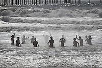 May 23, 2013: Ocean Beach, San Diego, California, USA:  At the San Diego Lifeguard Bronze Memorial Dedication Ceremony.