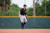 GCL Yankees East second baseman Matt McGarry (10) during the second game of a doubleheader against the GCL Pirates on July 31, 2018 at Pirate City Complex in Bradenton, Florida.  GCL Pirates defeated GCL Yankees East 12-4.  (Mike Janes/Four Seam Images)