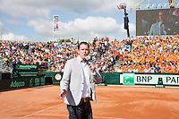 15-09-12, Netherlands, Amsterdam, Tennis, Daviscup Netherlands-Suisse, Speaker