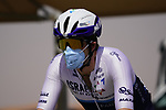 Alex Dowsett (ENG) Israel Start-Up Nation heads to sign on before the start of Stage 3 of the 2021 UAE Tour running 166km from Al Ain to Jebel Hafeet, Abu Dhabi, UAE. 23rd February 2021.  <br /> Picture: Eoin Clarke | Cyclefile<br /> <br /> All photos usage must carry mandatory copyright credit (© Cyclefile | Eoin Clarke)