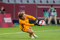 TOKYO, JAPAN - JULY 21: Alyssa Naeher #1 of the United States makes a save during a game between Sweden and USWNT at Tokyo Stadium on July 21, 2021 in Tokyo, Japan.