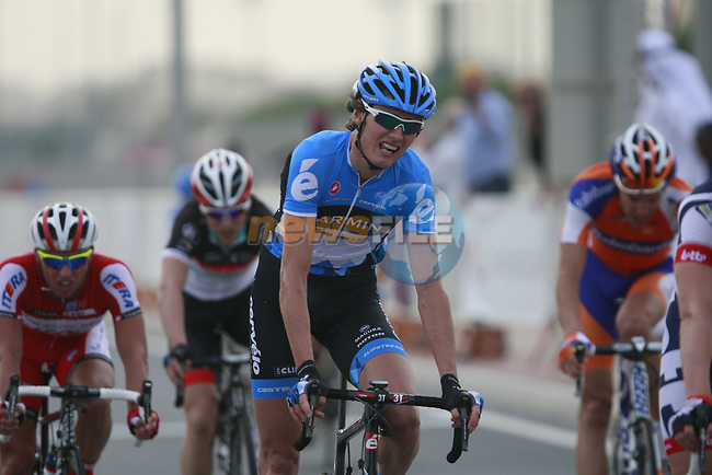 Garmin-Cervelo rider Johann Van Summeren (BEL) crosses the finish line of Stage 3 of the 2012 Tour of Qatar running 146.5km from Dukhan Souq, Dukhan to Al Gharafa, Qatar. 7th February 2012.<br /> (Photo Eoin Clarke/Newsfile)