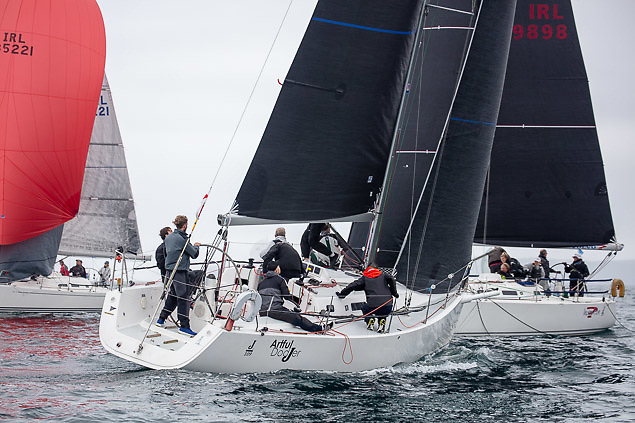 Local J109 Artful Dodjer competing in the first day of racing in the 2021 Sovereign's Cup at Kinsale Yacht Club