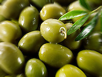 Fresh green queen olives photos, pictures & images.