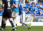 St Johnstone v Dundee….20.04.19   McDiarmid Park   SPFL<br />Scott Tanser scores his goal<br />Picture by Graeme Hart. <br />Copyright Perthshire Picture Agency<br />Tel: 01738 623350  Mobile: 07990 594431