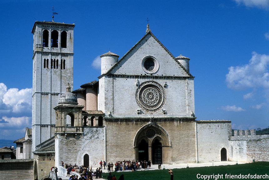 Italy: Assisi--San Francesco, Upper Basilica. Photo '85.