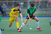 Action from the boys match between Wairarapa College and Paraparaumu College on day three of the 2020 Lower North Island Hockey Premiership tournament at Fitzherbert Park Twin Turfs in Palmerston North, New Zealand on Wednesday, 2 September 2020. Photo: Dave Lintott / lintottphoto.co.nz