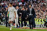 Real Madrid's coach Santiago Solari during La Liga match between Real Madrid and Real Valladolid at Santiago Bernabeu Stadium in Madrid, Spain. November 03, 2018. (ALTERPHOTOS/A. Perez Meca)