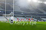 Tony Brosnan, Kerry has a shot at goal during the Munster GAA Football Senior Championship Semi-Final match between Cork and Kerry at Páirc Uí Chaoimh in Cork.