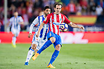 Diego Roberto Godin Leal (R) of Atletico de Madrid competes for the ball with Carlos Alberto Vela Garrido (L) of Real Sociedad during their La Liga match between Atletico de Madrid vs Real Sociedad at the Vicente Calderon Stadium on 04 April 2017 in Madrid, Spain. Photo by Diego Gonzalez Souto / Power Sport Images