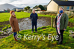 Fenit residents who are concerned about the Kerry County Council owned O'Sullivan's Field and it's future development. Front right: Mary O'Brien Browne. Back l to r: Elizabeth and Mike Lynch.