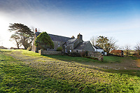 Pictured: The farm house at Trecadwgan farm near Solva. Friday 10 January 2020<br /> Re: Farmers campaigning to save a 14th century farm called Trecadwgan and keep it for a community project in Solva, west Wales, UK.