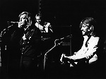 Bee Gees 1973 Robin Gibb, Maurice Gibb and Barry Gibb at the London Palladium