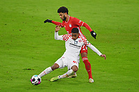 3rd January 2021, Allianz Arean, Munich Germany; Bundesliga Football, Bayern Munich versus FSV Mainz; Serge GNABRY, FCB challenges against Leandro Barreiro MARTINS (FSV Mainz 05)