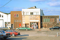 Monterey CA: Cannery Row--as yet, unrecycled buildings. Photo '85.
