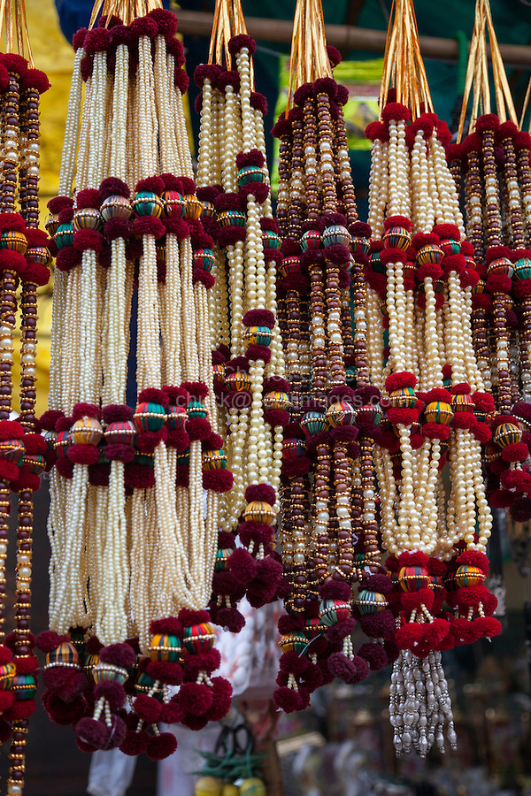 Jaipur, Rajasthan, India.  Garlands for Brides, or for Placing around Photos of the Dead.