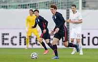 ST. GALLEN, SWITZERLAND - MAY 30: Josh Sargent #9 of the United States moves with the ball during a game between Switzerland and USMNT at Kybunpark on May 30, 2021 in St. Gallen, Switzerland.