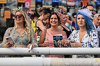 9th September 2021; Doncaster Racecourse, Doncaster, South Yorkshire, England;   St Leger Ladies Day; Ladies celebrate Harrow ridden by Oisin Murphywin that won the 14:10 Weatherbys Scientific 200,000 2-Y-O Stakes