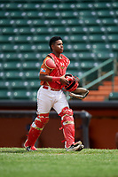 Kenny Baez (8) during the Dominican Prospect League Elite Underclass International Series, powered by Baseball Factory, on July 21, 2018 at Schaumburg Boomers Stadium in Schaumburg, Illinois.  (Mike Janes/Four Seam Images)
