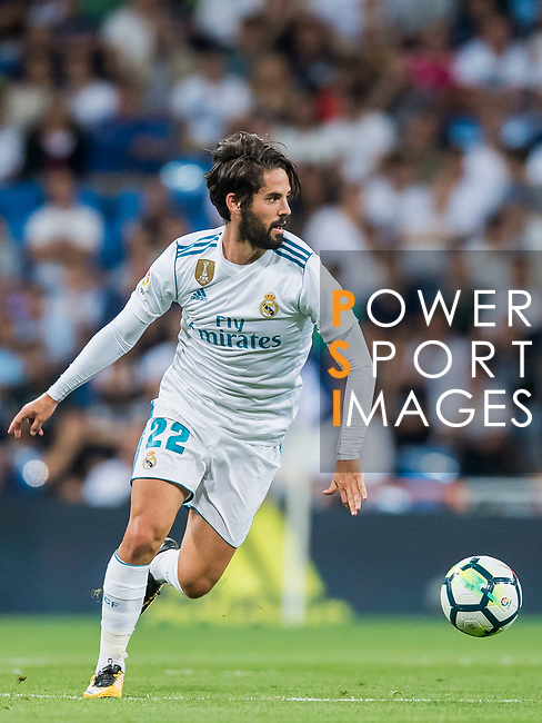 Isco Alarcon of Real Madrid in action during their La Liga 2017-18 match between Real Madrid and Valencia CF at the Estadio Santiago Bernabeu on 27 August 2017 in Madrid, Spain. Photo by Diego Gonzalez / Power Sport Images