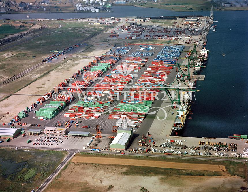 Juli 1984.  Hessenatie in de Haven van Antwerpen.
