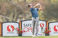 11th September 2020, Napa, California, USA;  Andy Zhang of China tees off during the second round of the Safeway Open PGA tournament on September 11, 2020 at Silverado Country Club in Napa, CA.