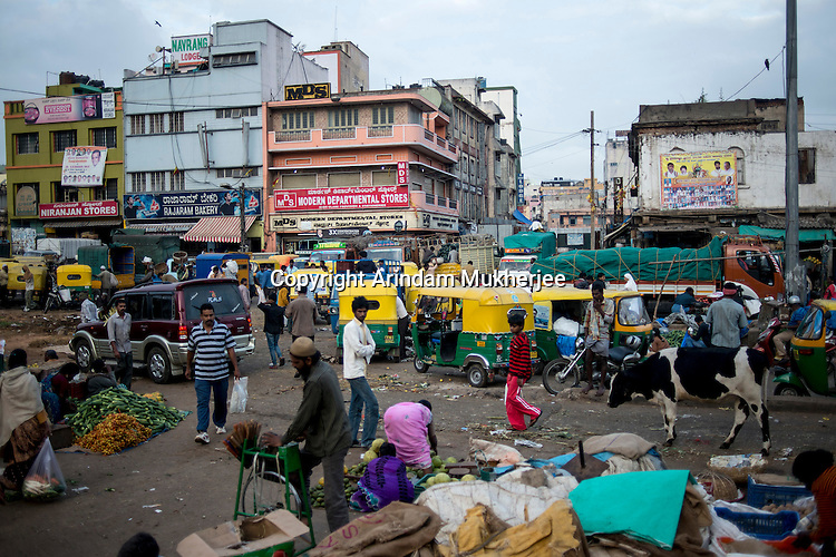 A market place in Bangalore, India
