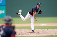 Starting pitcher Ryan Fernandez (31) of the Greenville Drive in the completion of a suspended game against the Asheville Tourists on Tuesday, August 31, 2021, at Fluor Field at the West End in Greenville, South Carolina. (Tom Priddy/Four Seam Images)