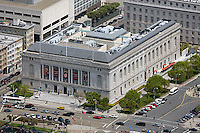 aerial photograph of the Asian Art Museum, Civic Center, San Francisco, California