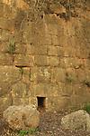Israel, Jerusalem mountains, the wall near Ein Handak