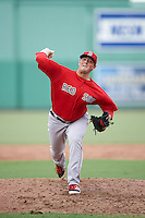 Boston Red Sox pitcher Matthew Gorst (71) during an Instructional League game against the Minnesota Twins on September 23, 2016 at JetBlue Park at Fenway South in Fort Myers, Florida.  (Mike Janes/Four Seam Images)