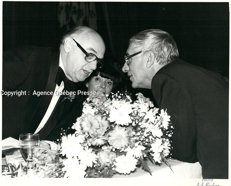 Le maire Jean Drapeau, 17 octobre 1979.<br /> <br /> PHOTO : JJ Raudsepp  - Agence Quebec presse