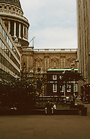 London:  Cathedral Place--looking towards St. Paul's.  Photo '90.