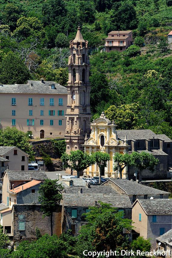 Barockkirche von La Porta in der Castaniccia, Korsika, Frankreich