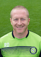 Wycombe Wanderers Assistant Manager Richard Dobson  during the Wycombe Wanderers 2016/17 Team & Individual Squad Photos at Adams Park, High Wycombe, England on 1 August 2016. Photo by Jeremy Nako.