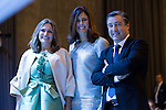 """Ainhoa Arteta (L), Edurne Pasaban (C) and Joan Roca during the 6th edition of the collecting badges to the new ambassadors fees """"Marca España"""" in his 6th edition at BBVA City in Madrid, November 12, 2015.<br /> (ALTERPHOTOS/BorjaB.Hojas)"""
