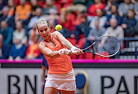 Den Bosch, The Netherlands, Februari 9, 2019,  Maaspoort , FedCup  Netherlands - Canada, First round match : Richel Hogenkamp (NED)<br /> Photo: Tennisimages/Henk Koster